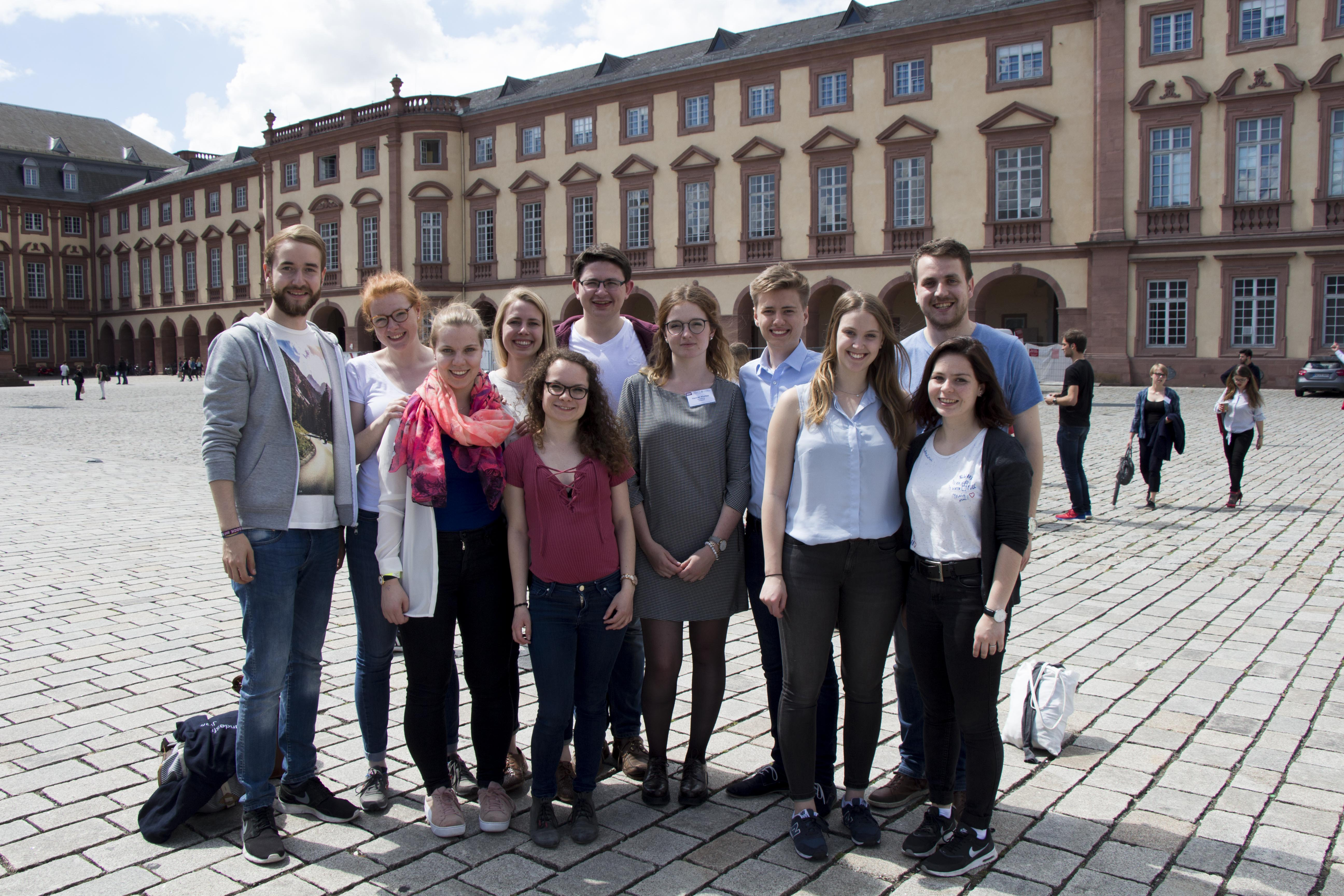 Die Delegation des FSR Jura auf der BuFaTa 2017 in Mannheim